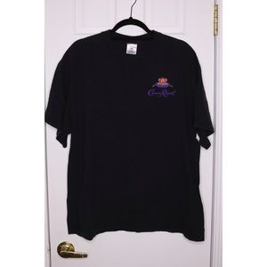 Vintage CROWN ROYAL Logo Tee Black TShirt XL EUC